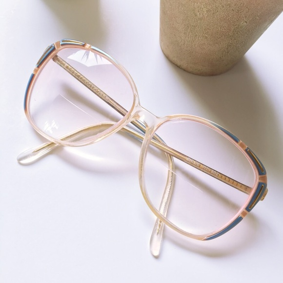 Chloe Accessories | Vintage Glasses Eyeglass Frames Pink Clear ...